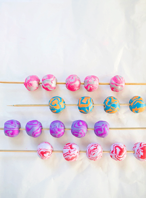 10 diy clay wooden beads
