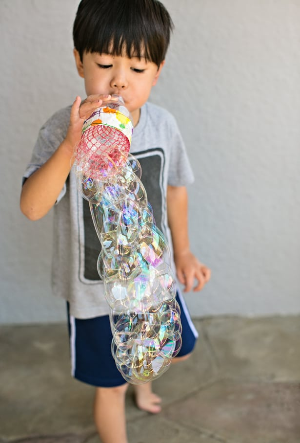 Hello wonderful diy recycled bottle bubble blower for Bottle painting materials