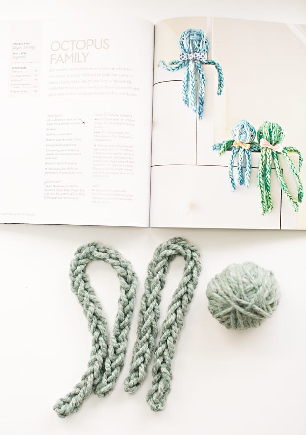 Knitting Without Needles Book : Hello wonderful finger knit octopus review of