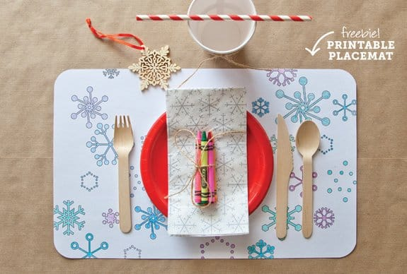 Christmas placemats via mom me 6 fun holiday placemats are offered