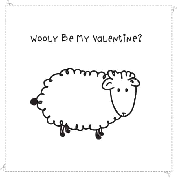 hello Wonderful WOOLY BE MY VALENTINE FREE PRINTABLE CARD – Free Printable Valentines Card
