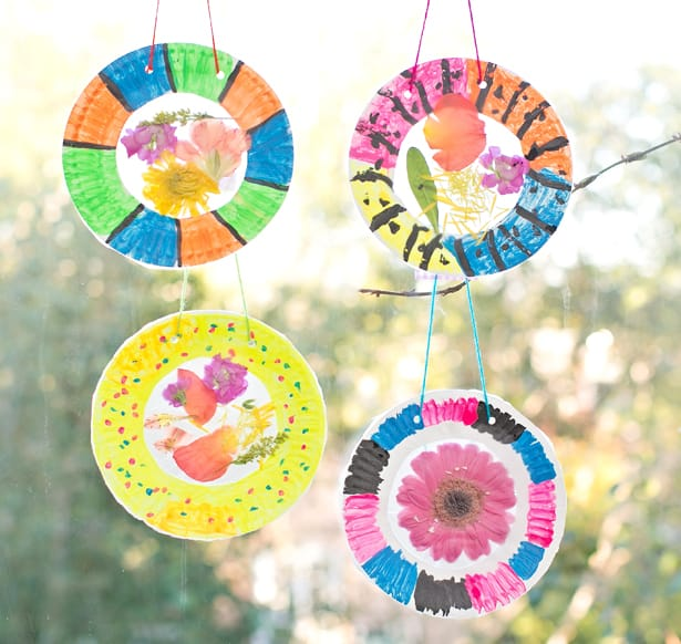 16 diy flower suncatchers kids
