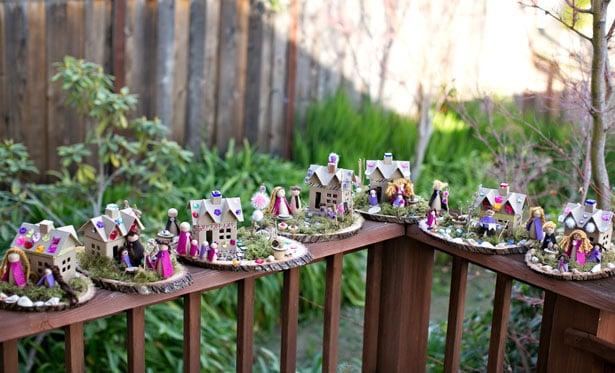 Making Fairy Houses From Cardboard Bo