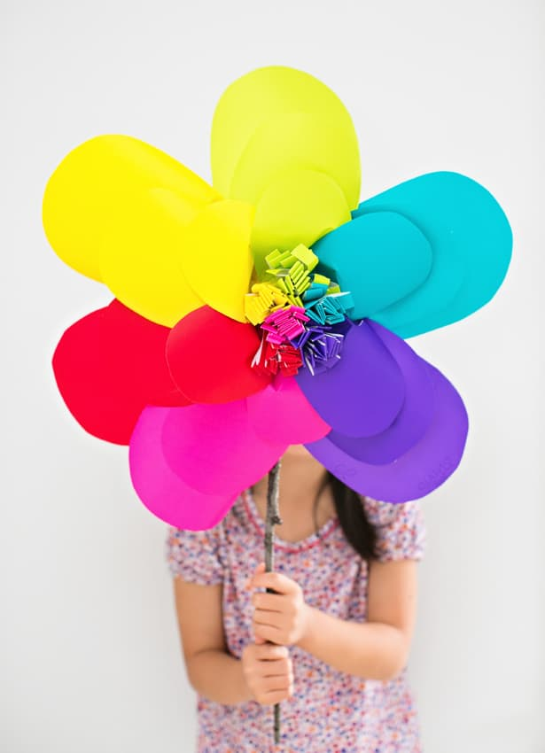 how to make rainbow flowers