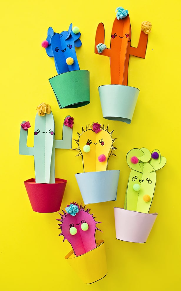 Hello Wonderful Diy Happy Cactus Paper Plants With