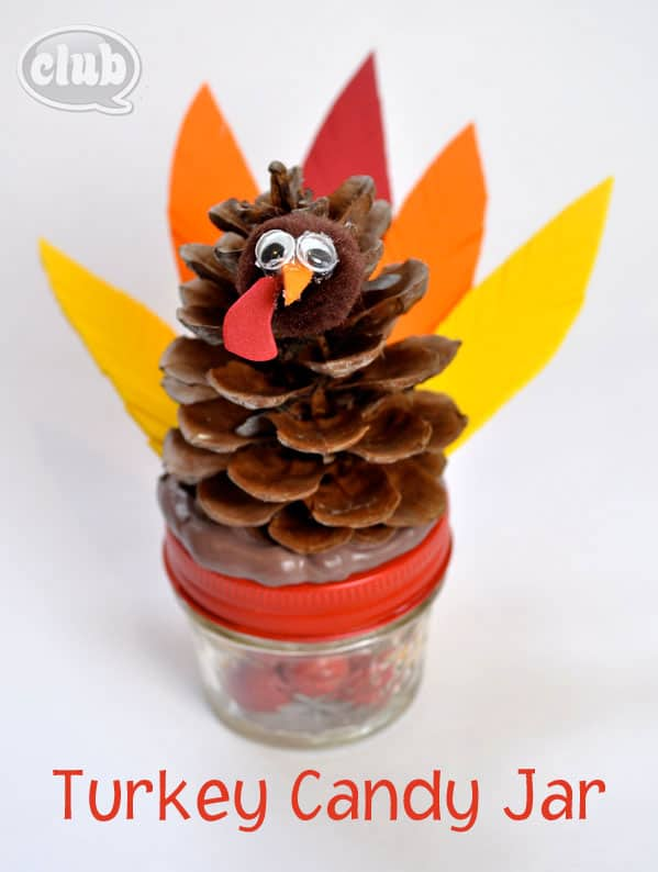 Hello Wonderful Make A Turkey Candy Jar