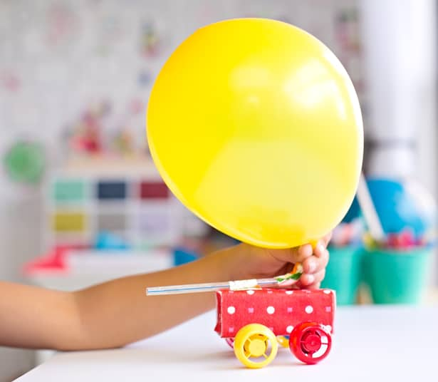 hello, Wonderful - MAKE A BALLOON POWERED RECYCLED JUICE BOX CAR