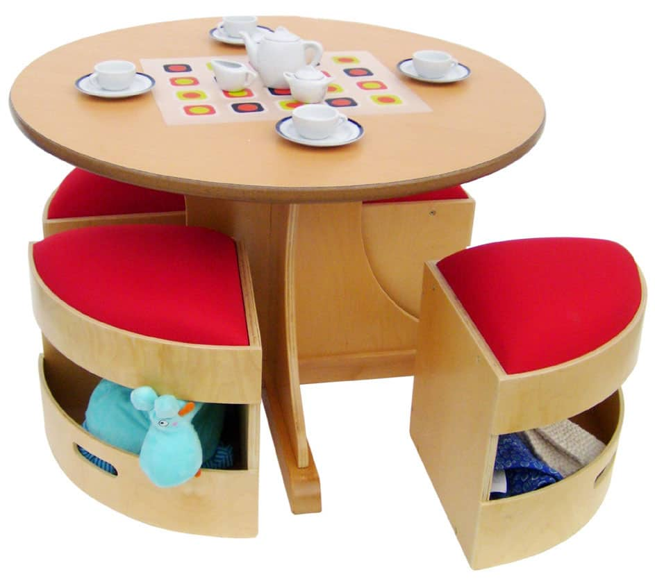 Hello Wonderful MODERN KIDS TABLE WITH STORAGE STOOLS