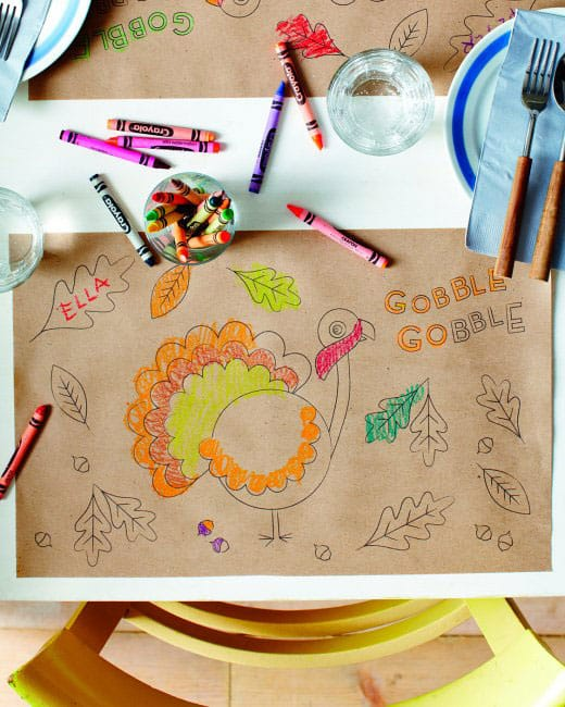 Kids Thanksgiving Placemat Ideas