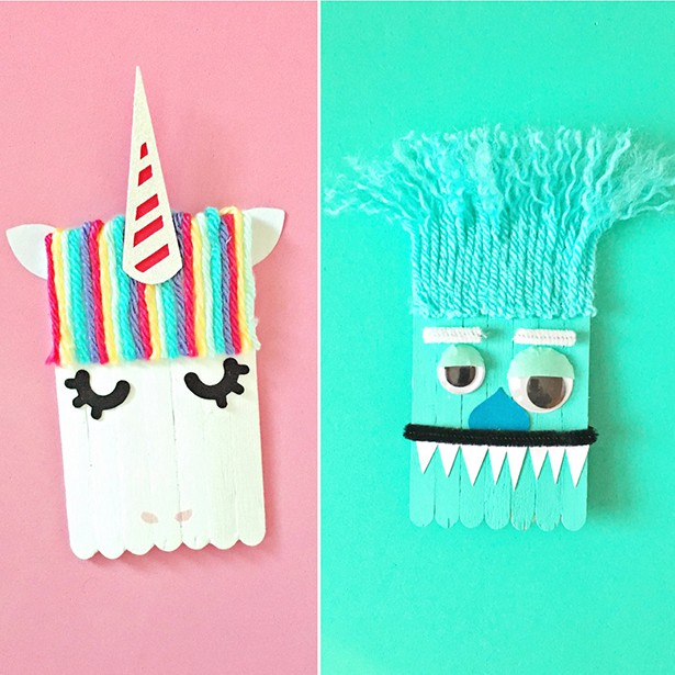 Crafts With Yarn And Popsicle Sticks