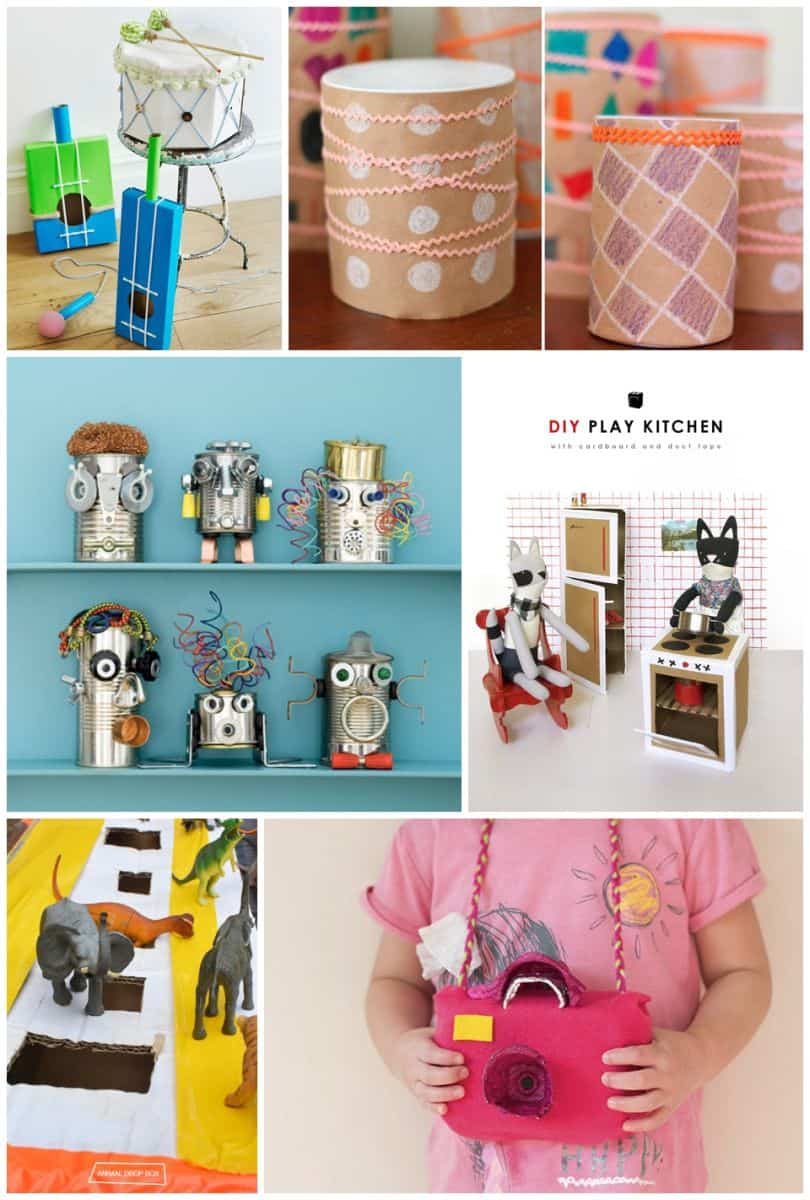 Hello wonderful 30 best recycled toy crafts for kids for Use of waste material for kids