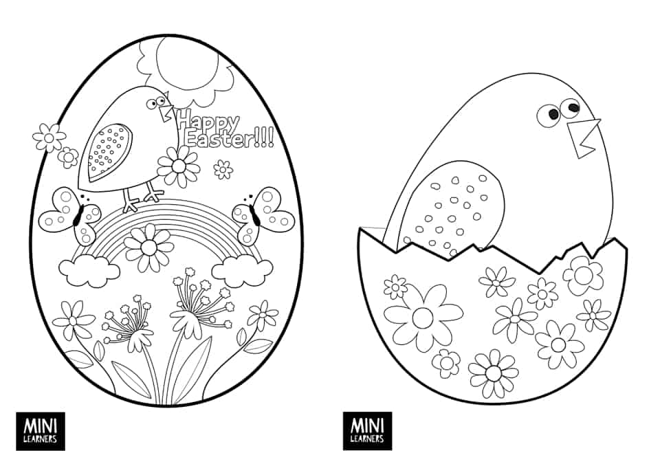 Coloring Pages Of Small Easter Eggs Multiple Easter Egg