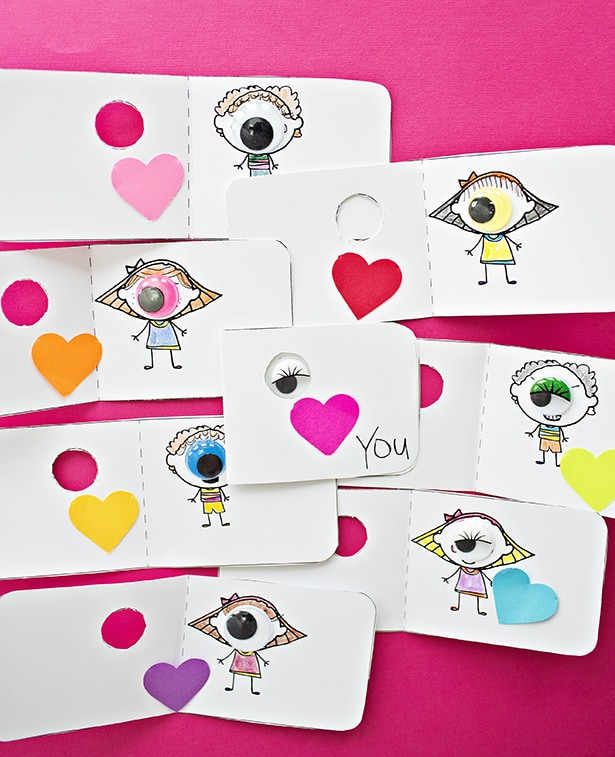 hello wonderful  eye love you coloring valentine cards