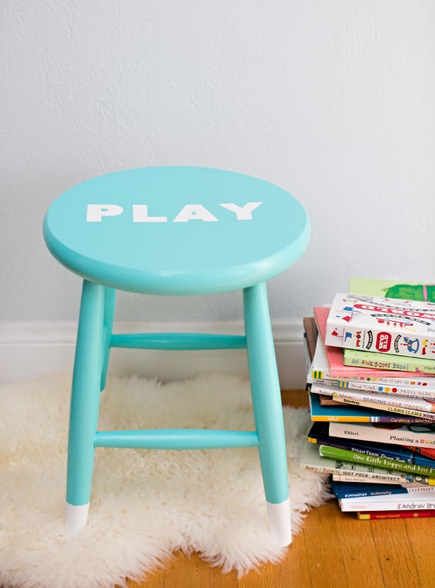 Hello Wonderful Easy Diy Painted Children S Stool With