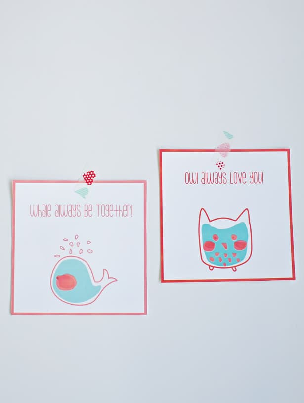 hello Wonderful FREE PRINTABLE WHALE AND OWL VALENTINE CARDS – Owl Valentine Card