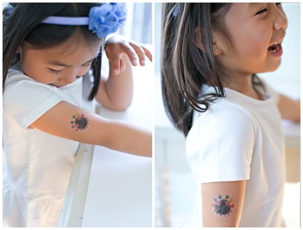 Hello wonderful make temporary tattoos out of kids 39 art for Temporary tattoos kids