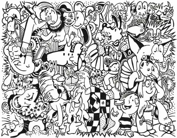 Hello Wonderful COLORING PAGE ART PRINT THAT SUPPORTS