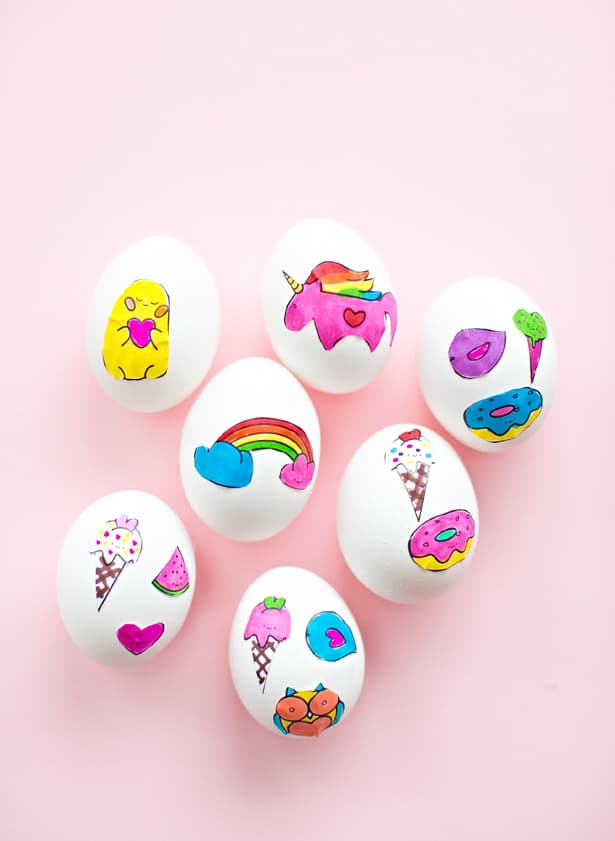 Hello Wonderful Cute Easter Egg Sticker Art With Free