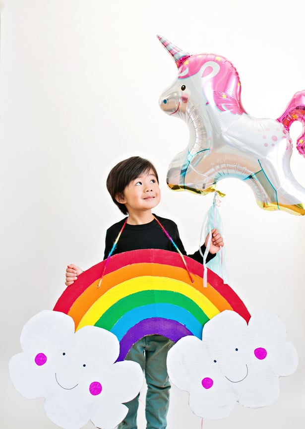 Hello Wonderful Diy Happy Cardboard Rainbow Costume For