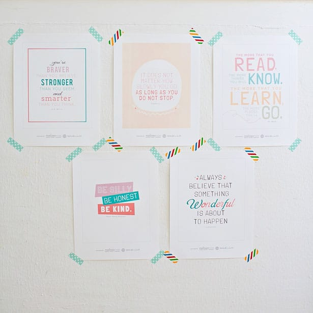 Hello wonderful 5 free printable inspirational children for Inspirational quotes for kids room