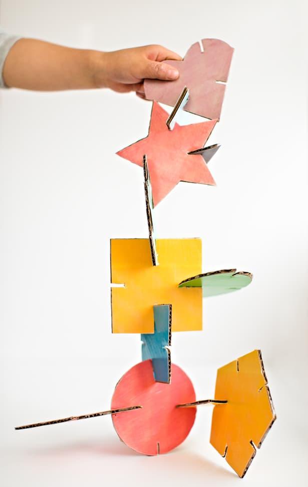 geometric shape sculpture