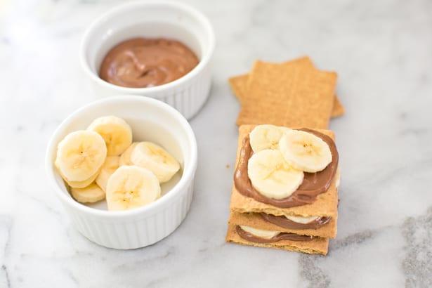 Hello Wonderful Easy Graham Cracker Banana Chocolate Cake