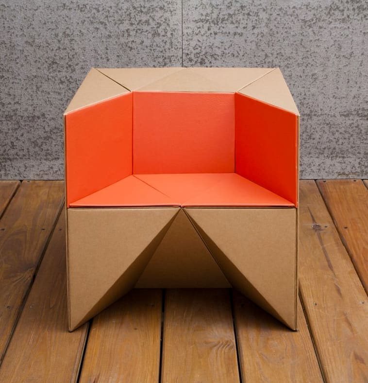 Hello Wonderful FLEXIBLE CARDBOARD CHAIR FOR KIDS FROM