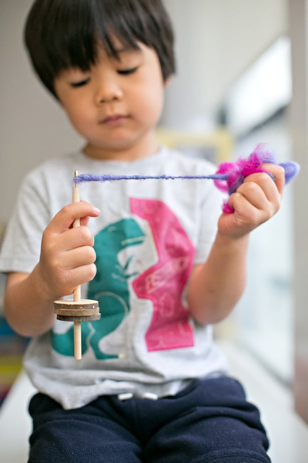 Hello Wonderful Make A Mini Drop Spindle For Kids