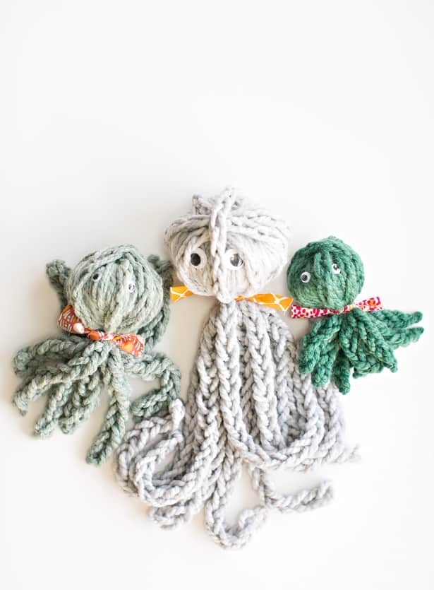 Finger Knitting For Kids Projects : Hello wonderful finger knit octopus review of