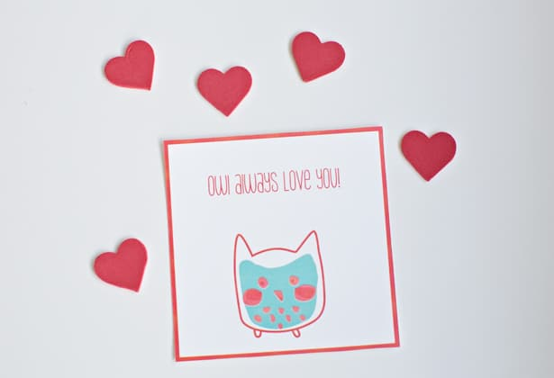 hello Wonderful FREE PRINTABLE WHALE AND OWL VALENTINE CARDS – Valentines Card Free