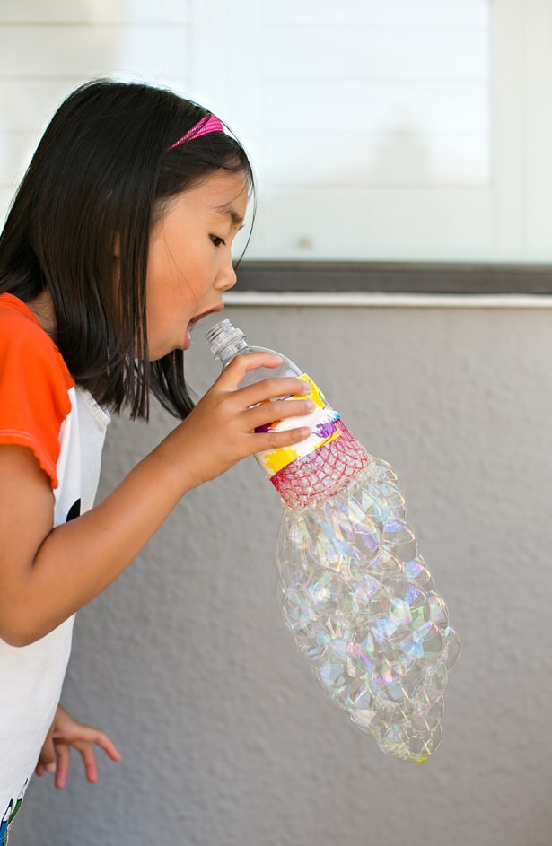 Hello wonderful diy recycled bottle bubble blower for How to make a bubble blower from a water bottle