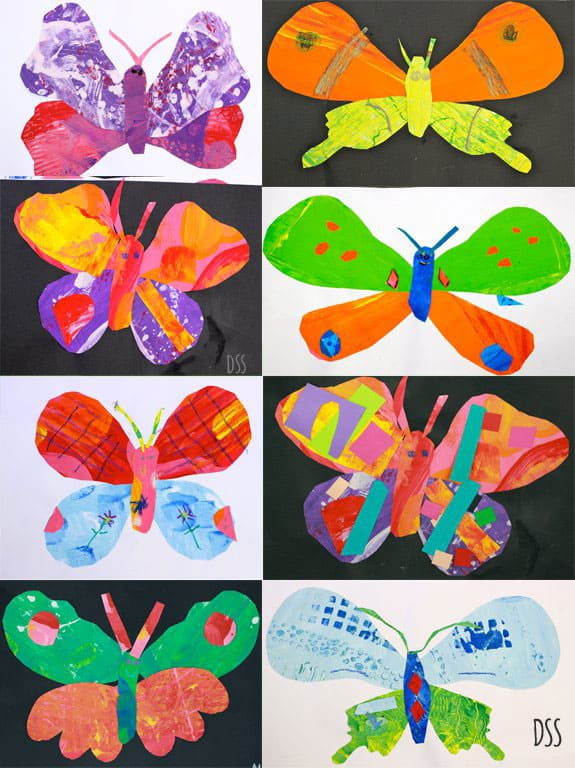 Painted Butterflies via Deep Space Sparkle These Vibrant