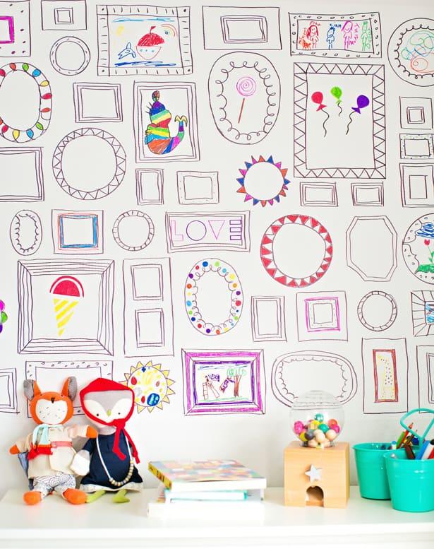 Hello wonderful easy diy frames wallpaper for Wallpaper kids home