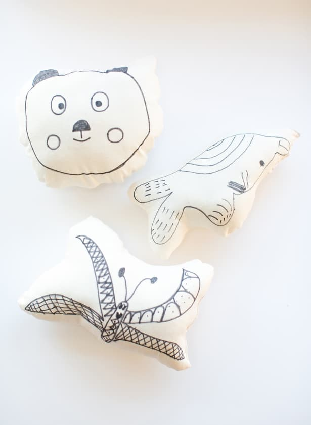 How To Make Cute Pillows Out Of Fabric : hello, Wonderful - DIY KID S ART ON A PILLOW: EASY SEWING PROJECT FOR KIDS