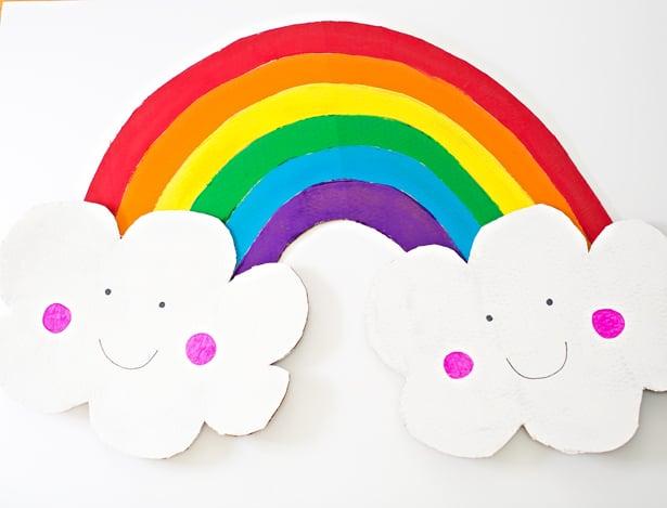 Hello Wonderful DIY HAPPY CARDBOARD RAINBOW COSTUME FOR