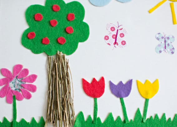 mixed media spring art - Spring Pictures For Kids