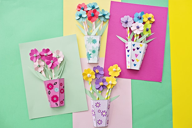 Hello Wonderful How To Make 3d Paper Flower Bouquets