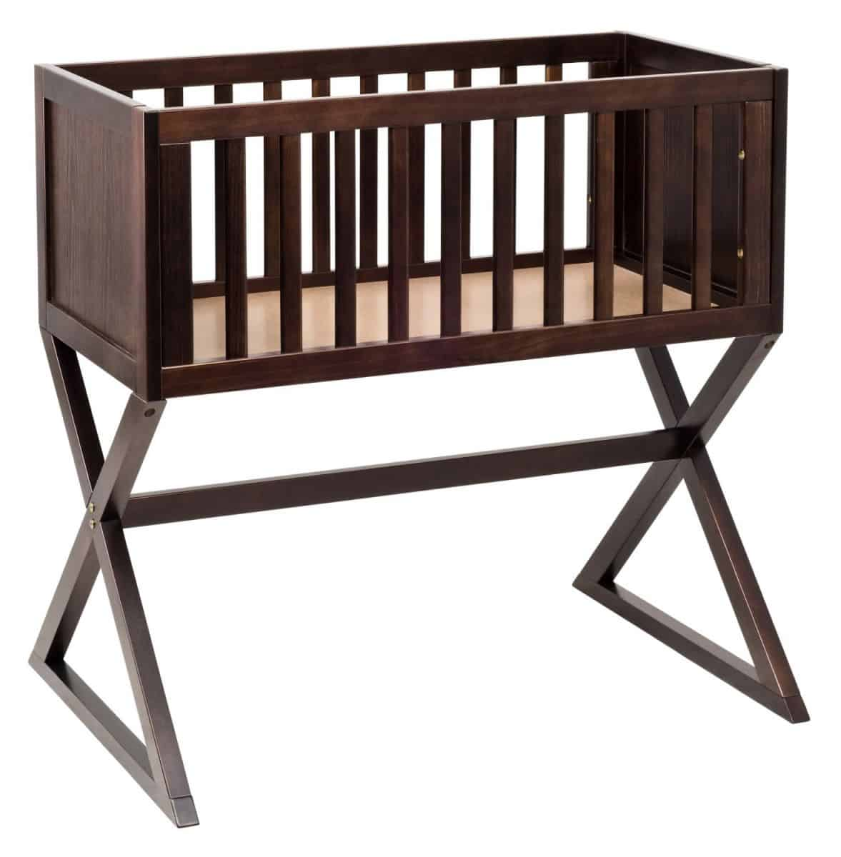 hello wonderful   modern baby bassinets -  bassinet design  this one is meant to be right by parents' bedside forconvenient access and turns into a modern play table once baby outgrows it