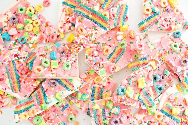 Hello Wonderful Magical Rainbow Unicorn Candy Bark