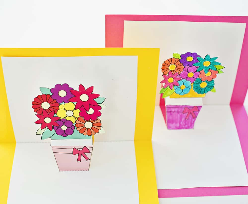 pop out flower card template 28 images diy pop up flower cards
