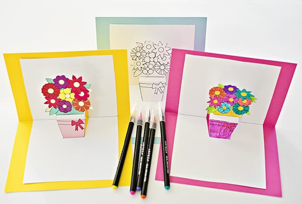 How To Make A Flower Basket Pop Up Card : Hello wonderful how to make pop up flower cards with