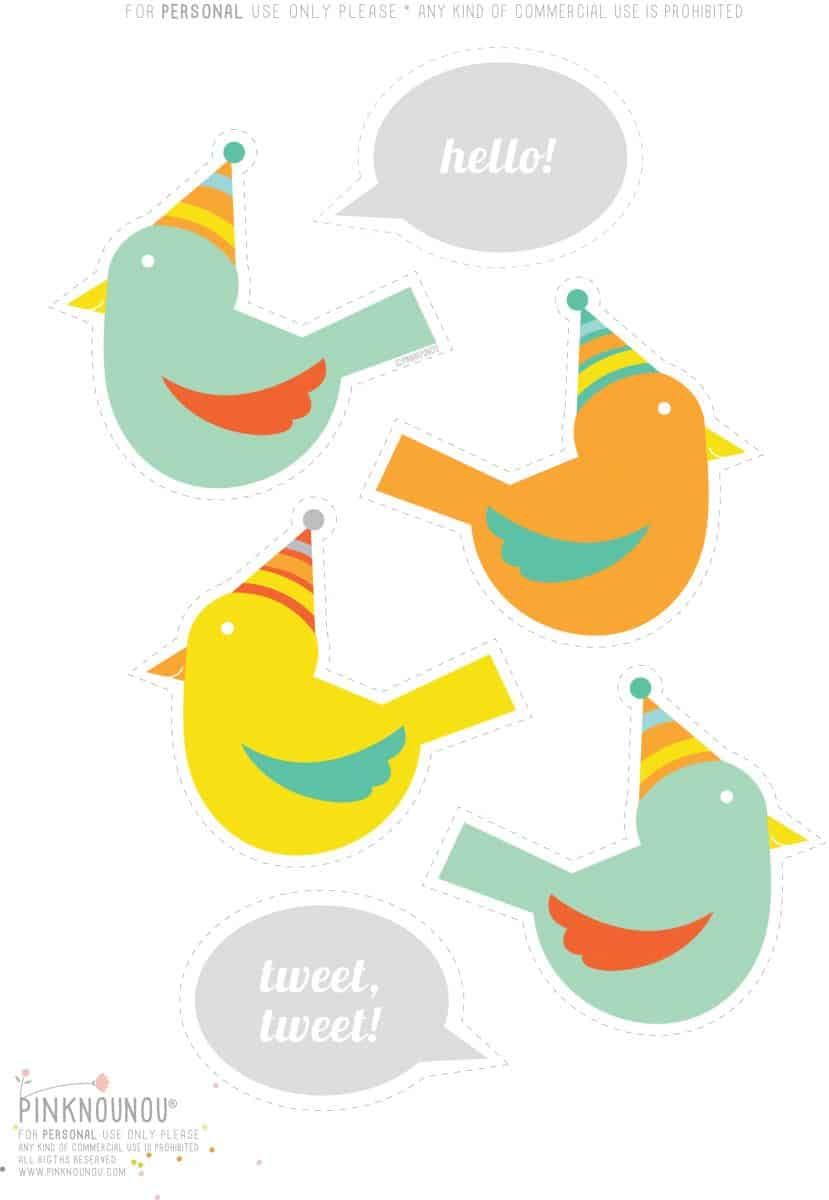 Cute Bird Template Printable Free Printable Bird Template