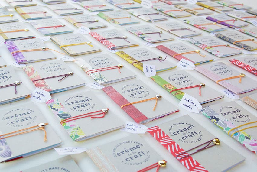 Diy cereal box notebooks via creme de la craft how clever are these