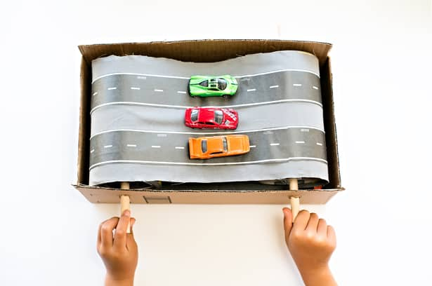 how to build a rubber band car with household items