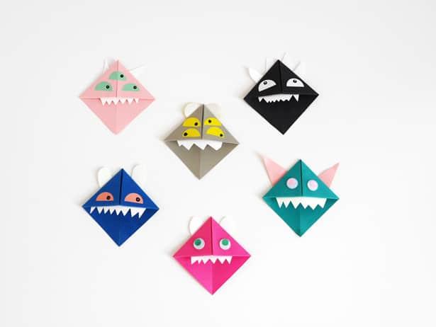 Diy origami monsters bookmarks 5