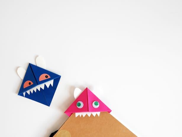 Diy origami monsters bookmarks 6