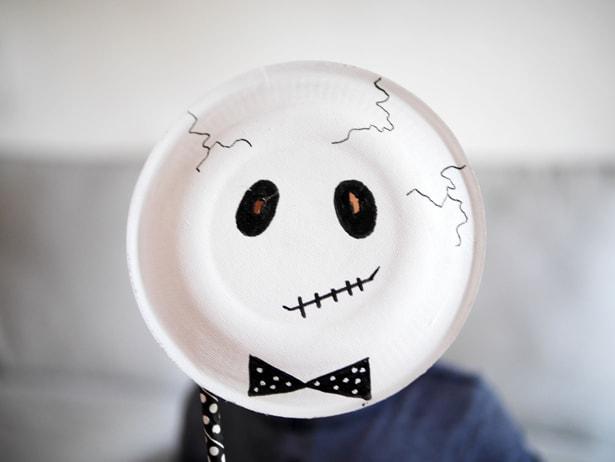 Hello Wonderful Easy Diy Skeleton Paper Plate Masks