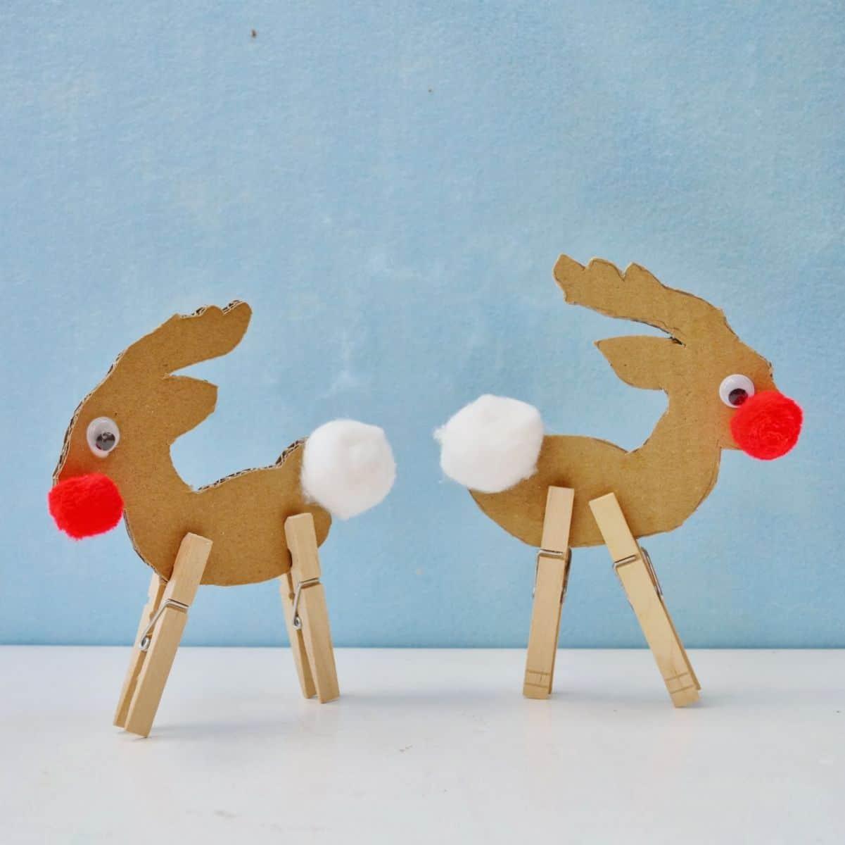 Clothespin Reindeers (via Snugglebug University) Toddlers and ...