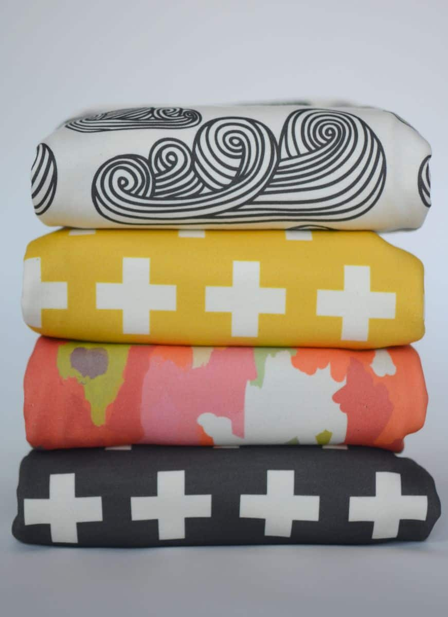 hello wonderful   modern and hip baby blankets - this latest batch of blankets takes visual cues from interior design (ikat babyblanket anyone) and contemporary graphic design (chevrons tinybicycles)