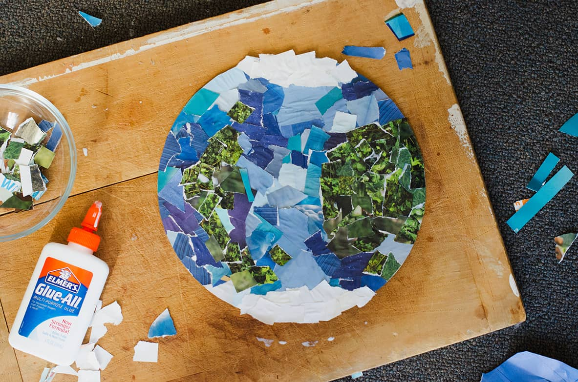 Hello wonderful 12 beautiful earth day art projects for for Cool art ideas for kids